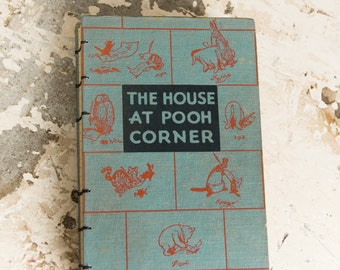 1957 POOH CORNER Vintage Grid Lined Notebook Journal