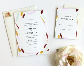Watercolor Wedding Invitation, Wedding Invitations Modern, Wedding Invites, Boho Wedding Invitation, Wedding Invitation Suite