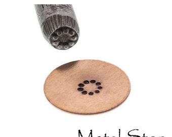Circle of dots - Metal Design Stamp