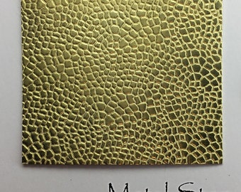 """Textured Brass Sheet 2.5"""" x 3"""" - Pebble Pattern 47 - Great for Jewelry or Rolling Mill impressions"""