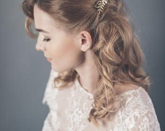 Wedding hair comb - Wedding headpiece silver or gold