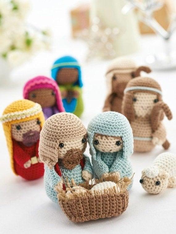Crochet Amigurumi Nativity Pattern : Crochet Christmas nativity amigurumi PDF pattern