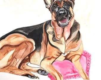 Custom Dog Portrait, Custom Dog Painting, Custom Pet Portrait, Acrylic Painting, Original Portrait, Pet Memorial Art, Pet Art, Pet Loss Gift