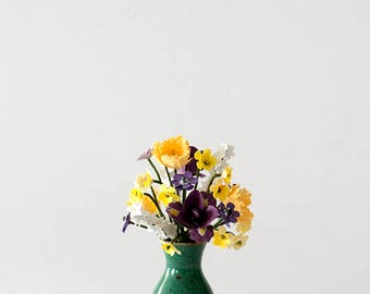 Spring Paper Flower Arrangement Ready Made in 1/12th scale for Dolls Houses