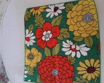 Set of 4 Mid Century Floral Napkins