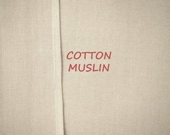 1-3/4 YARDS, MUSLIN, Tan, Semi Sheer Craft or Fashion Fabric, Lightweight Cotton, B33