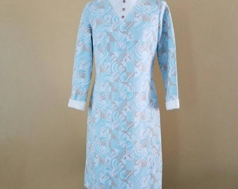 Vintage Mod Office Dress long sleeve size Large