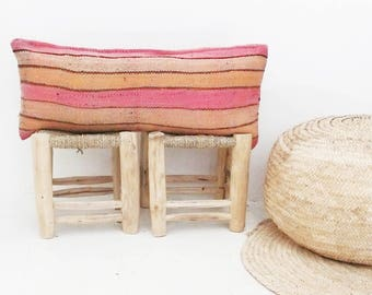 Moroccan Kilim pillow cover - pink