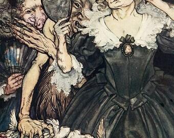 Boast More,  Arthur Rackham, Vinatge Art Print