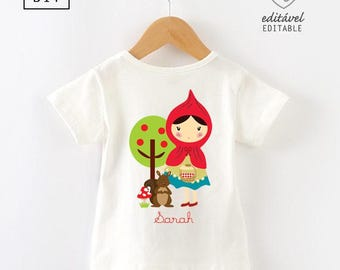 Red Riding Hood Shirt iron on transfer | Red Riding tshirt | Red Riding Hood | Red Riding shirt iron on transfer | DIY iron on | Red Riding