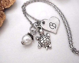 Turtle Necklace, Turtle Jewelry, Animal Jewelry