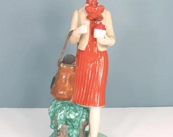 Vintage Tupperware Lady Demonstrator Figurine,  Series 2,  1960s, 1970s