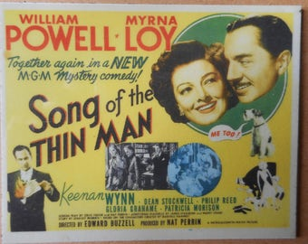 Magnet- Song of the Thin Man movie  William Powell Myrna Loy Keenan Wynn