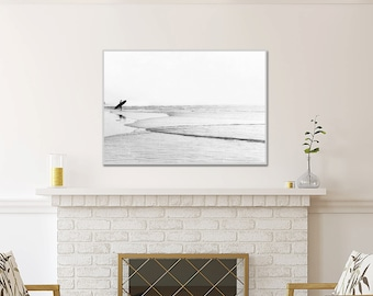 Large Black And White Photography, Surf Decor, Surf Art, Large Wall Art, Extra Large Print, Living Room Wall Art, Surf Room Art, Gray White