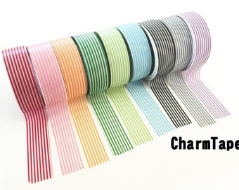 Stripes Washi Tape Roll 15mm x 10 meters WT1002