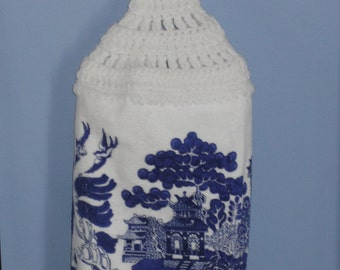Blue Willow single kitchen dish towel