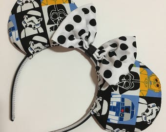 Star Wars Kawaii Mouse Ears with Bow - Mad Ears - MADE TO ORDER