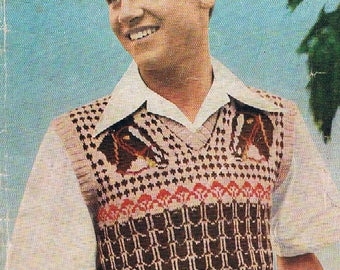 Vintage Patons Knitting Book No.R.14 - For Men Specially Requested Reprints