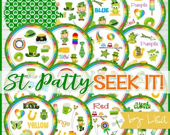St. Patrick's Day SEEK IT Match Game, Classroom Party Game, St. Patty's Day Gift Idea, Party Favor - Printable Instant Download by Lisa