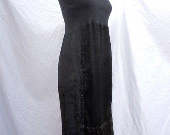 little black boho evening dress