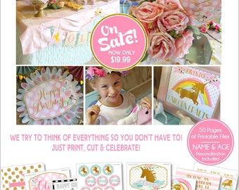 Unicorn Birthday Party | Unicorn Party | Unicorn Birthday Decorations | Unicorn Party Printables | Rainbow Birthday | Amanda's Parties To Go