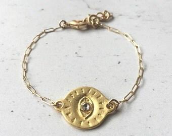 Golden Eye    Protective Eye Bracelet    Third Eye    Evil Eye    Dainty Bracelet