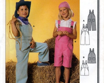 Burda 9742 Sewing Pattern for Children's Overalls - Uncut - Size 3, 4, 5, 6, 7, 8