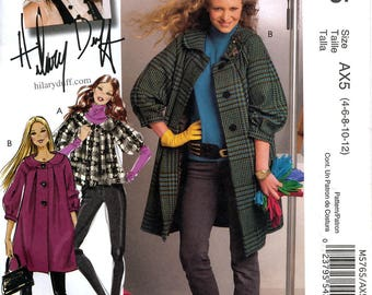 McCall's M5765 Hilary Duff Collection Misses' Lined Jacket and Coat Sewing Pattern - Uncut - Size 4, 6, 8, 10, 12