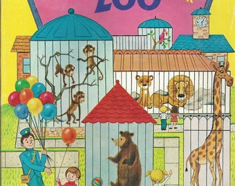 Vintage Modern Promotions Giant Zoo Coloring Book, C1970s