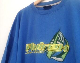 "Vintage Avirex Varsity t shirt XL 54"" tee 90s"