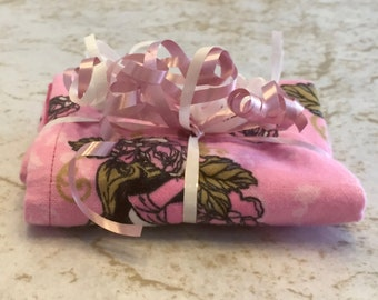 Sleeping Beauty Princess Aurora Reversible Burp Cloth - Ready to Ship by PiquantDesigns