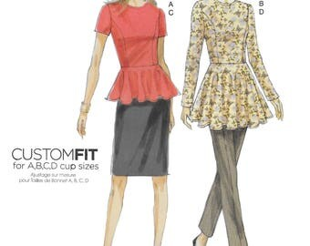 Vogue 8936 MissesTunic, Skirt and Pants Sewing Pattern Size 6 to 14, Bust 30 1/2 to 36