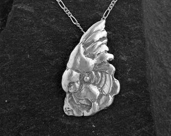 Sterling Silver Cockatoo Pendant on a Sterling Silver Chain