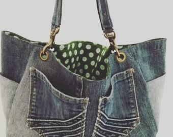 Denim handbag/tote bag