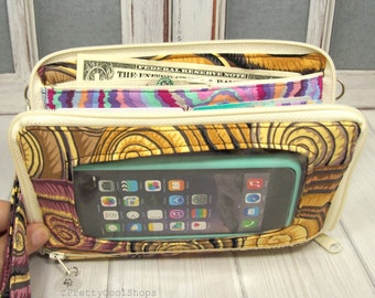cell phone wallet • shells • Keep in Touch MEGA Wallet • 1b