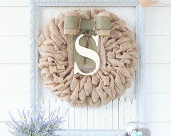 Summer Wreath, Summer Wreath, Front Door Wreaths, New Home Gift, Farmhouse Chic, Baby Shower Decorations, Initial Front Door Decor