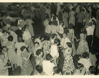 "Vintage Photo ""Night of a Million Dances"" Snapshot Antique Photo Old Black & White Photograph Found Paper Ephemera Vernacular - 134"