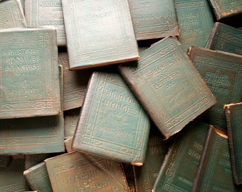 Little Leather Library Books with Green Covers - Tiny Classic Literature Books