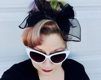 Pinup Hair Scarf - 13 Colors Available - 6 each or 3 for 15 - Vintage Chiffon Scarf