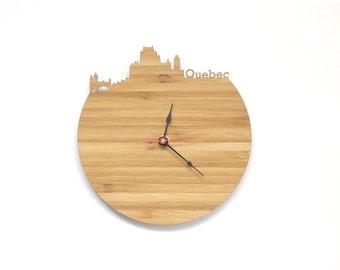 Quebec City Modern Clock - City Skyline Wall Clock - Canada