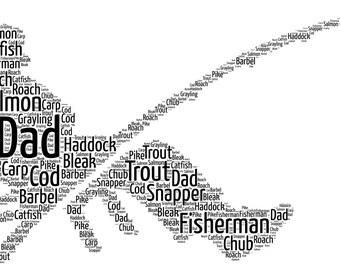Fisherman Personalised Word Art Print