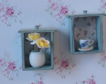 Miniature Repurposed  Drawers for Dollhouse Art