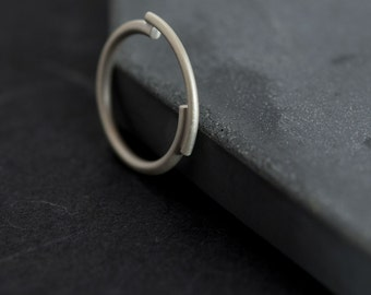 Architectural silver ring // Unique ring // minimal ring // simple // CP003