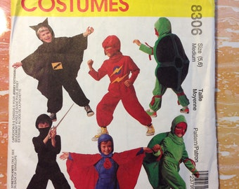 McCall's 8306 Children's or Boys' Superhero Costumes