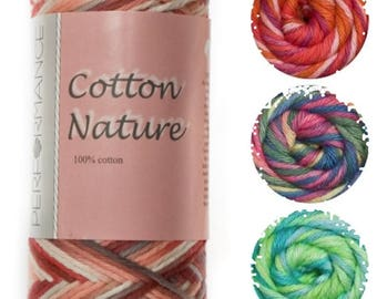 Cotton Nature Yarn Hypoallergenic baby friendly multicolor soft yarn. Multicolor icotton Natural cotton. Color choice. DSH