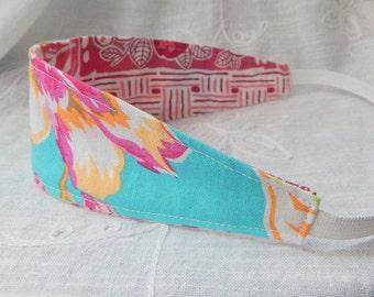 Fabric Reversible Headband, Floral Print Headband
