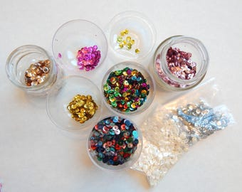 Small assortment of vintage sequins - spring cleaning - and you get the spoils!