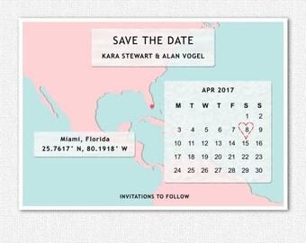 World Map Save the Date Cards, Destination Wedding, Template, Postcard, Wedding, DIY, Printable, Custom, Travel Theme, Calendar