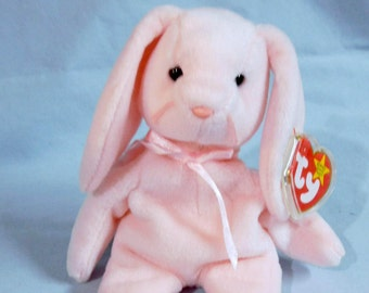 TY Beanie Baby - HOPPITY the BUNNY Rabbit - Collectibles - Ty Baby - Beanie Babies - Pink Bunny, Easter