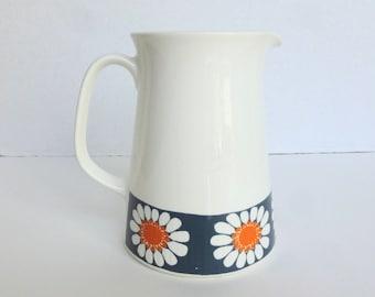 Figgjo Flint Turi Design Daisy Pattern Porcelain Pitcher Jug Made in Norway